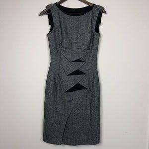 Karen Miller Black Tweed Dress Size 6